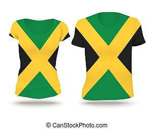Flag shirt design of Jamaica