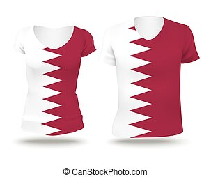 Flag shirt design of Qatar