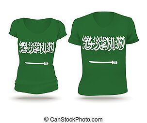 Flag shirt design of Saudi Arabia