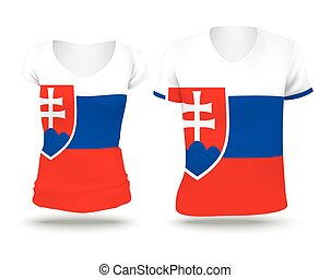 Flag shirt design of Slovakia