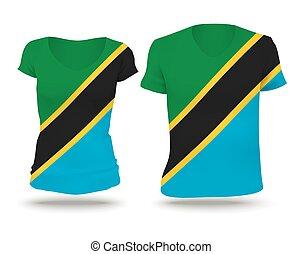 Flag shirt design of Tanzania