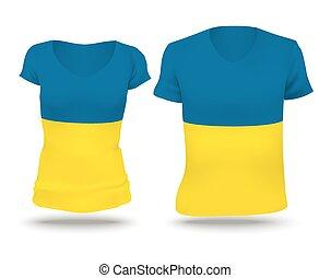 Flag shirt design of Ukraine