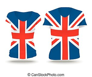 Flag shirt design of United Kingdom