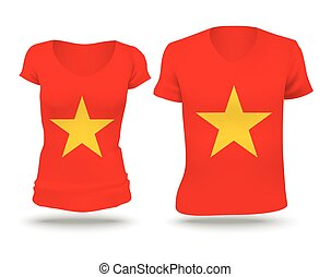 Flag shirt design of Vietnam