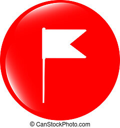 flag sign web button icon