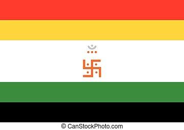 flag., signo., vector, jain, jainism., religioso, format.