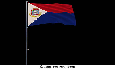 Flag Sint Maarten on transparent background, 4k prores 4444...
