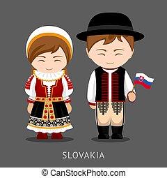 flag., slovaks, 服, 国民