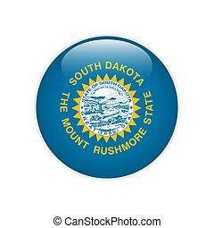 Flag South Dakota button