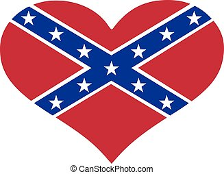 Flag southern states of america heart
