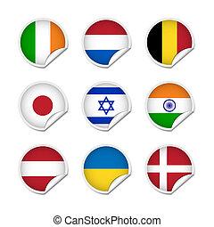 Flag stickers set 2