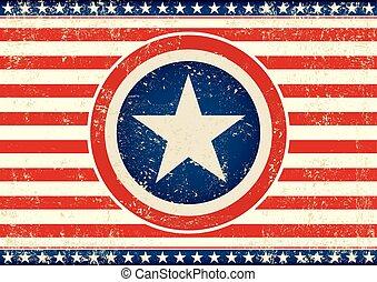 flag, stjerne, horisontale, os