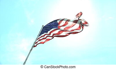 Flag Sunny Normal - Cool HD clip of the American flag...