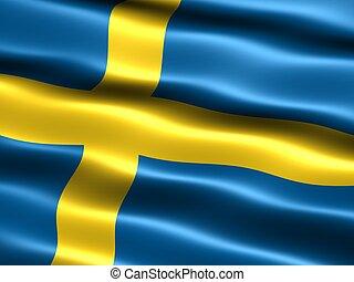 flag, sverige