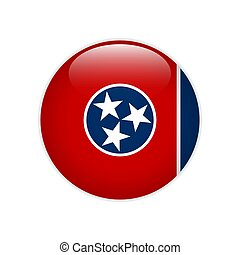 Flag Tennessee button