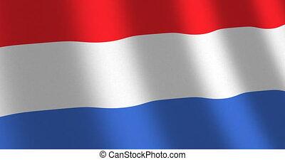 Flag The Netherlands moving wind