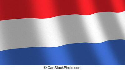 Flag The Netherlands moving wind