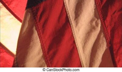 Flag Tilt Soft Focus - CU of the United States flag in soft...