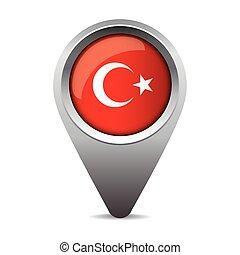 flag tyrkiet, vektor, pegepind