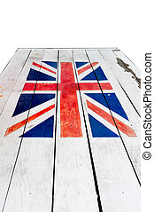 Flag UK with woods plate