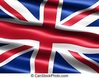 Flag: United Kingdom - Computer generated illustration of...