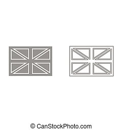 Flag united kingdom it is black icon .