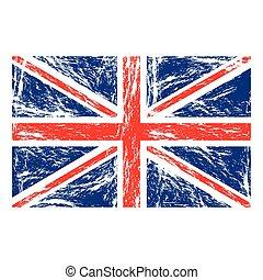 flag united kingdom with grunge texture