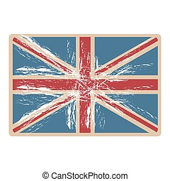 flag united kingdom with opaque grunge texture