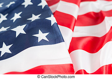 Flag united states - Closeup of the flag united states