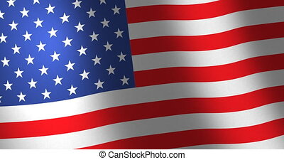 Flag United States moving wind - American flag of the United...