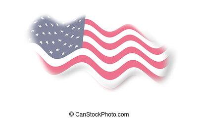 Flag - usa - background - Animation on emblems - Flag - usa...