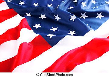 flag USA - flapping flag of USA with wave
