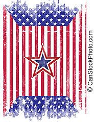 flag usa., grunge