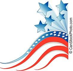 Flag USA Independence day render