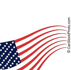 Flag USA Independence day template - Flag USA Independence...