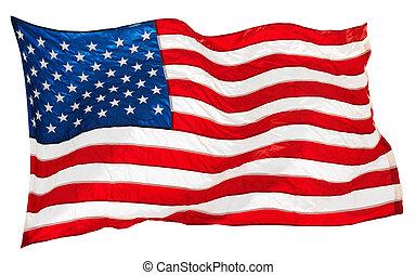 flag USA - flapping flag USA with wave