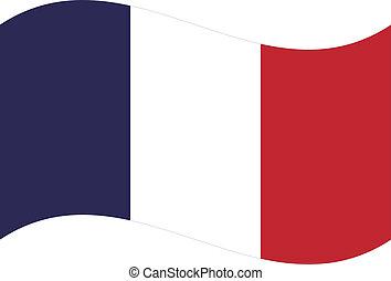 flag., vecteur, france