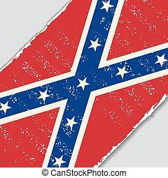 flag., vecteur, grunge, illustration., confédéré