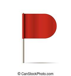 flag., vecteur, illustration., rouges