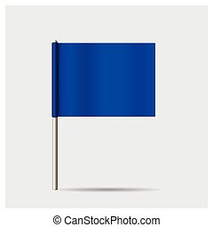 flag., vecteur, illustration.