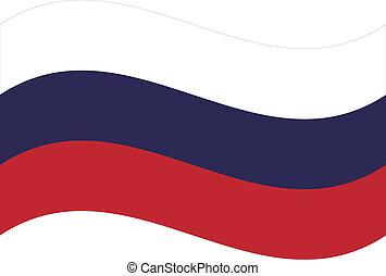 flag., vecteur, russie