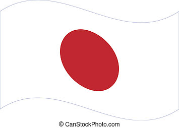 flag., vektor, japan