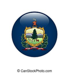 Flag Vermont button