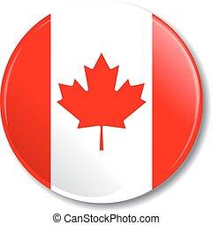 flag., vetorial, emblema, illustration., canadense