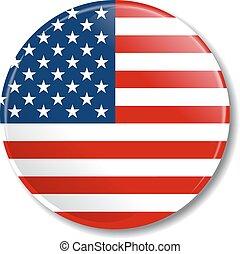 flag., vetorial, emblema, illustration., eua