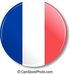 flag., vetorial, emblema, illustration., francês