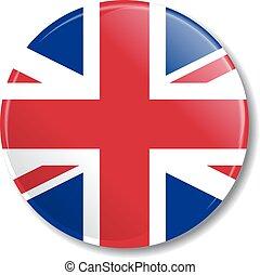 flag., vetorial, emblema, illustration., gb