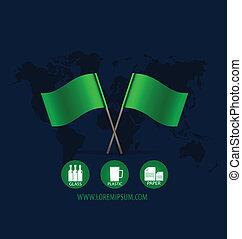 flag., vettore, illustration.