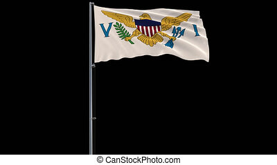 Flag Virgin Islands on transparent background, 4k prores...