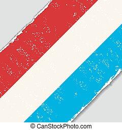 flag., wektor, grunge, illustration., luksemburg